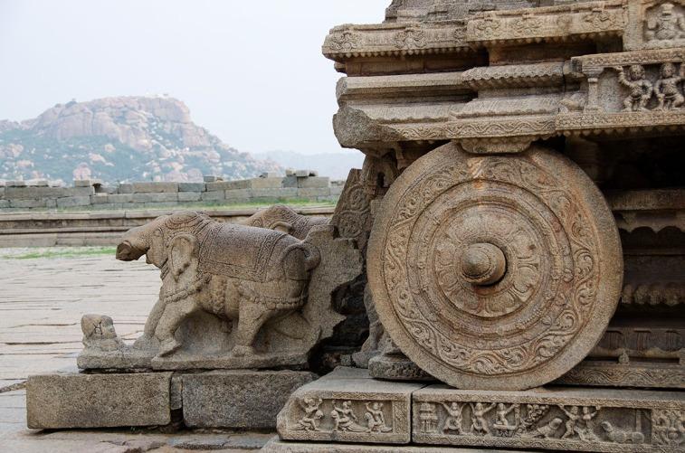 Stone chariot, Vijaya Vittala temple on the Vittala trail.