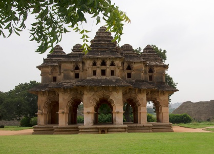 The inspiration: the original Lotus Mahal in the Royal enclosure of Hampi