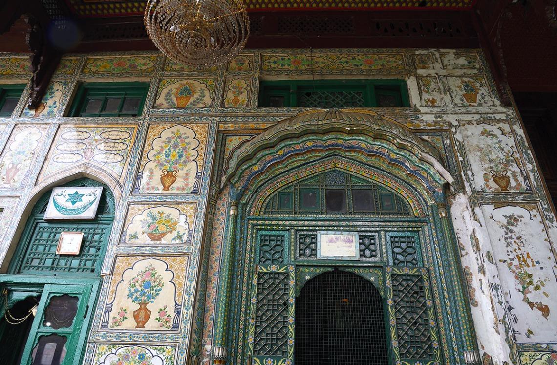 Papier mâché. facade - Khanqah of Shah Hamadan, Srinagar