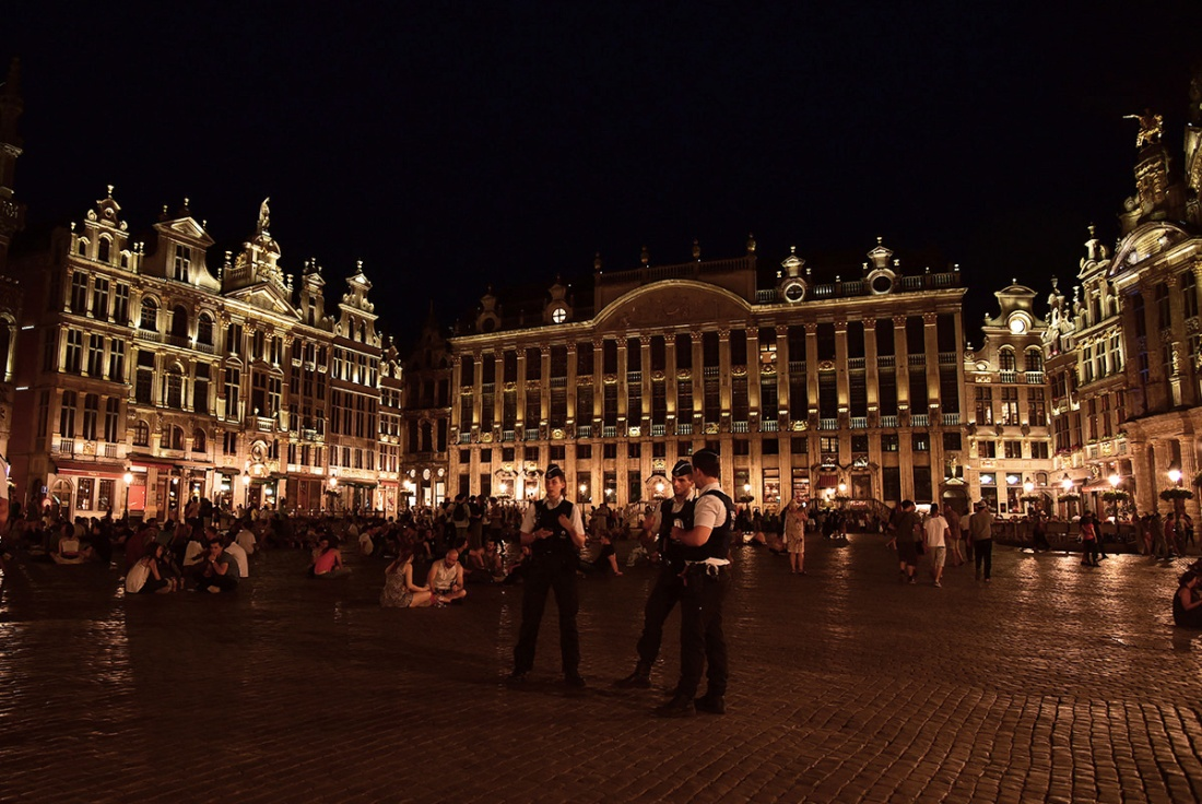 Grote Markt, brussels by night