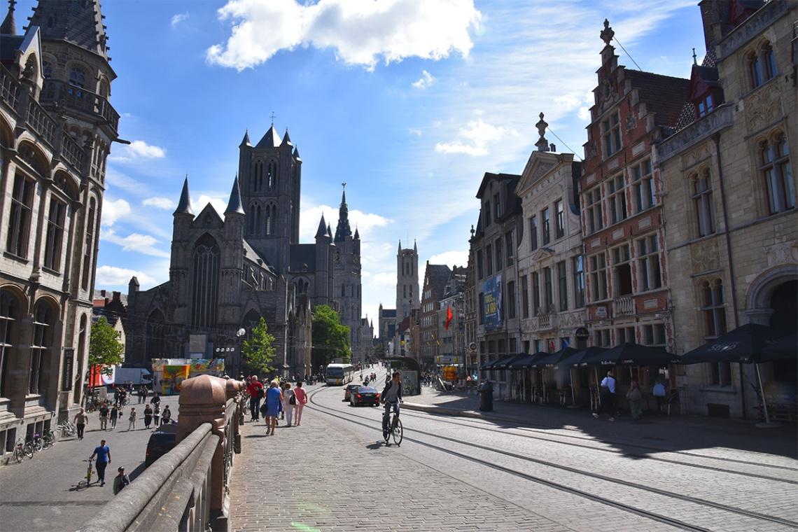 Ghent street, Belgium