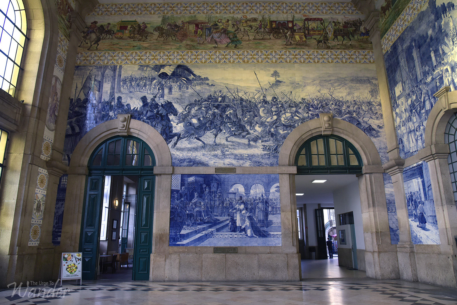 Azulejo Tiles in Sao Bento Station