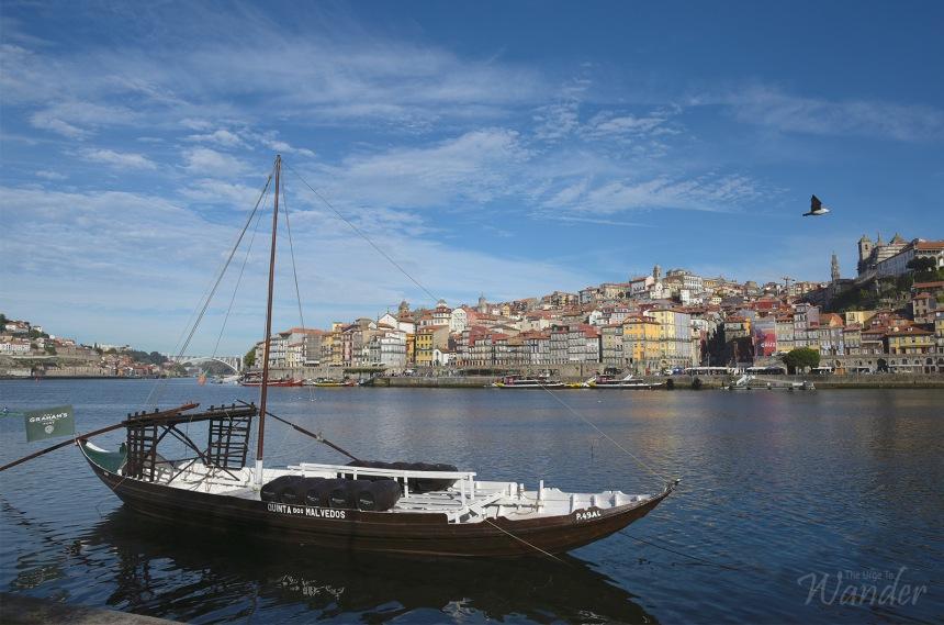 Looking towards Porto from Vila Nova de Gaia