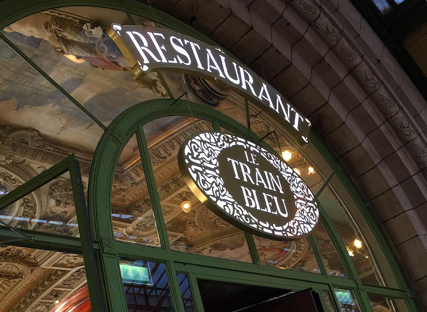 The historic Le Train Bleu in in the Gare du Lyon, Paris.