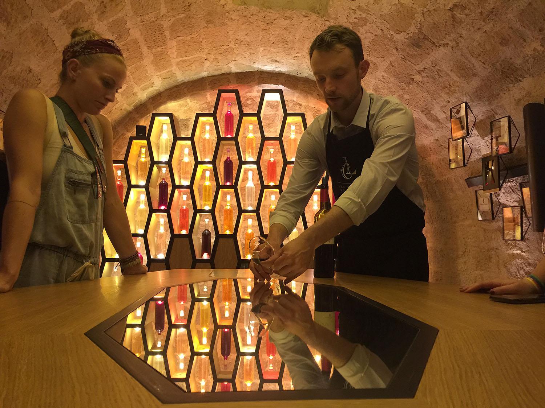 Wine tasting lessons at Les Caves du Louvre, Paris.