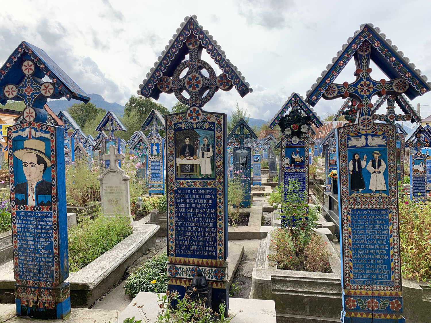 The Quirky cemetery in Sapanta, Maramures.