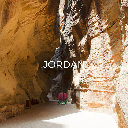 Entering Siq passage in Petra - Link to Jordan Guide