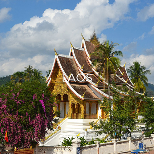 Temple in Lunag Prabang Palace complex - Link to Laos guide