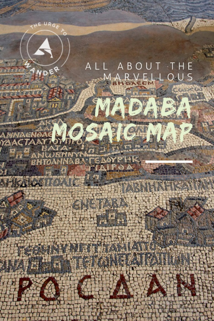 The Incredible Mosaic Map Of Madaba; Read all about the importance of the Madaba Map and how it helped identify and date the monuments in Jerusalem.  #jordan #madaba #ancientart #mosaic #mosaicmap #archaeology
