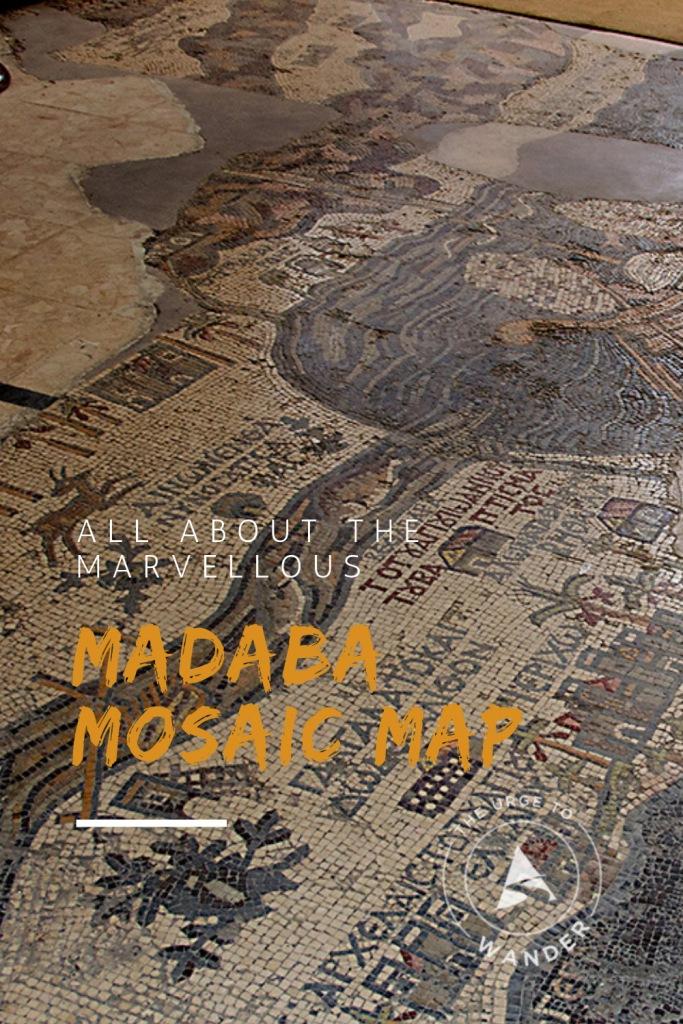 The Madaba Map - Read all about the history and Biblical imagery of the incredible mosaic map of Madaba in Jordan.   #jordan #madaba #ancientart #mosaic #mosaicmap #archaeology