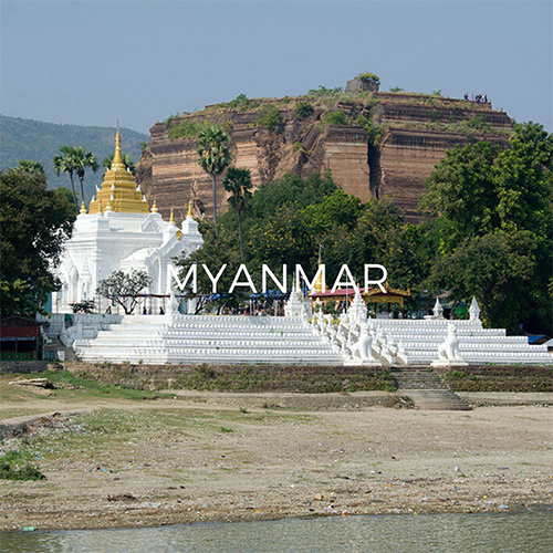 Mingun Pagoda from the river - Image link to Myanmar Guide