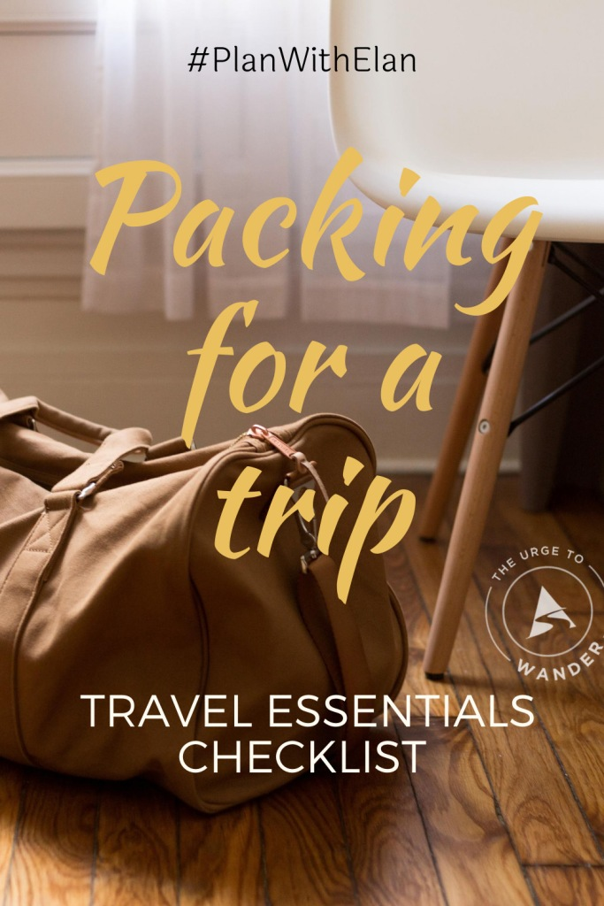 Looking for tips on packing for a trip? Here's a complete checklist of travel essentials including electronics and photography gear. #PackingList #PackingTips #BestTravelItems #TravelEssentials #TheUrgeToWander