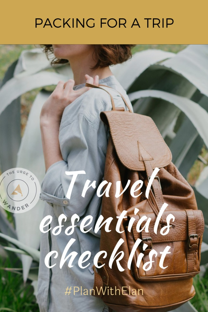 What's in our travel bags? Here's the complete checklist of essentials travel items including electronics and photography gear.  #PackingList #PackingTips #BestTravelItems #TravelEssentials #TheUrgeToWander #TravelGear