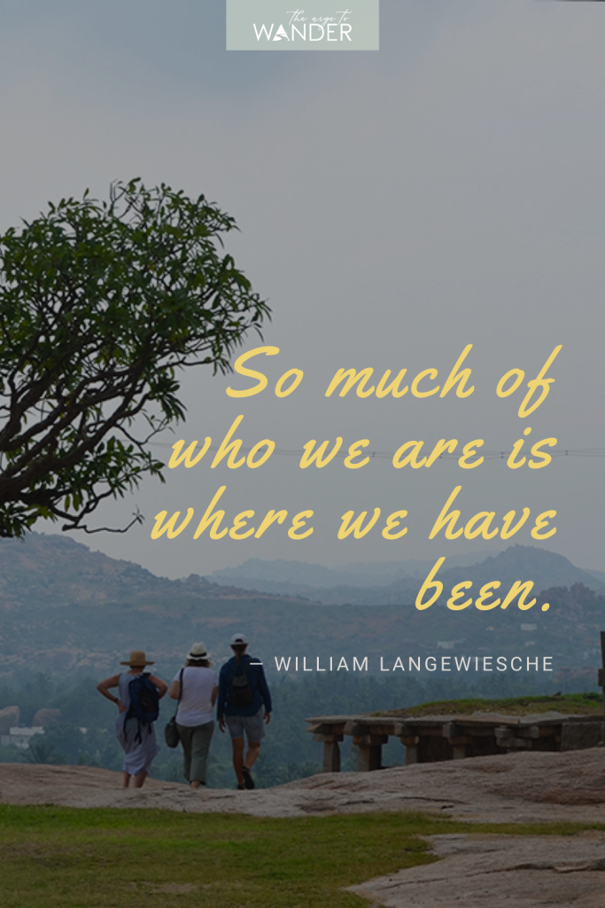 Looking for inspirational travel quotes? Here's a collection paired with my favourite travel photos sure to ignite wanderlust.  Image: Three tourists on Hemakuta hill, Hampi.. #travelquotes #adventure, #exploring #travelinspiration
