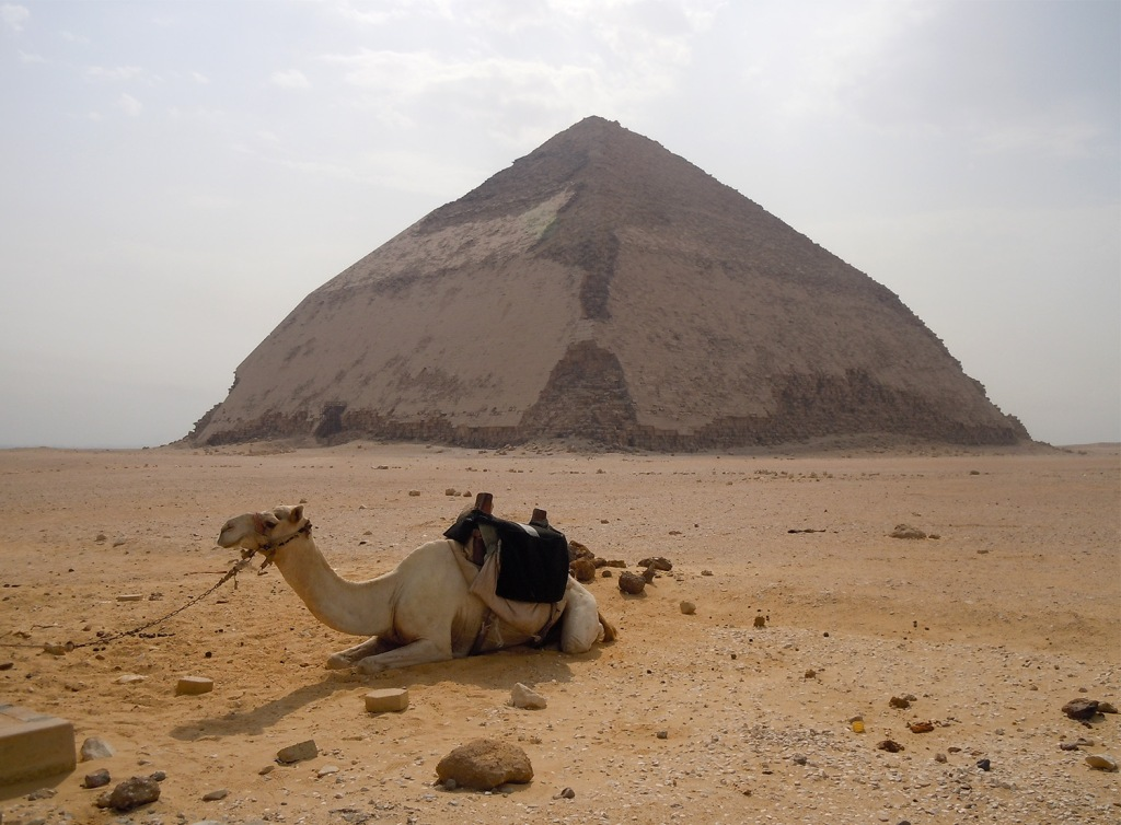 The Bent Pyramid in Dahshur.