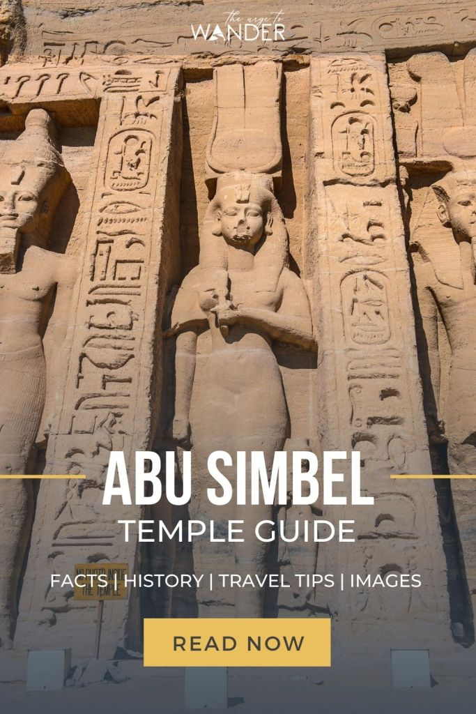 Complete guide to the Twin Temples Of Abu Simbel, two of the most amazing temples in Egypt that were rescued from the waters of the Aswan High Dam and relocated to their present location. I've included detailed information on how to get there, facts, history and travel tips to help you plan your visit.  #Egypt #PlacesToSee #AncientEgypt ##EgyptTemples