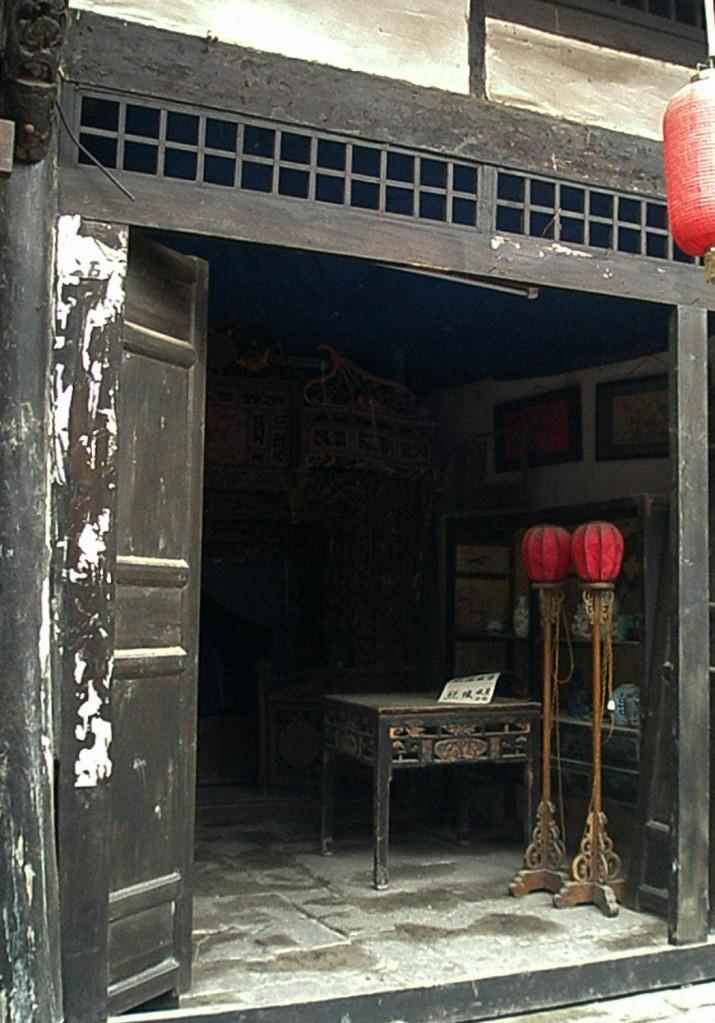 Antique shofront Laitan, China