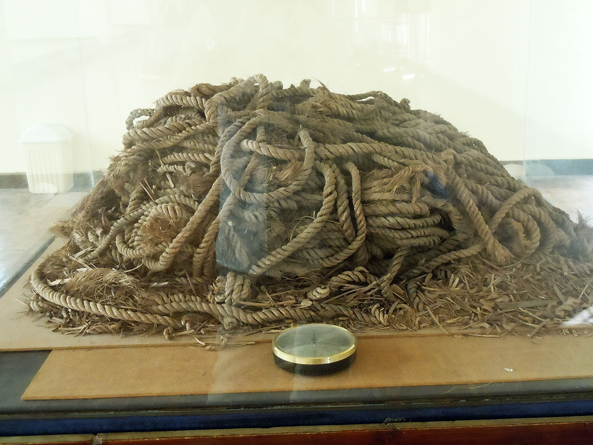 original Halfah grass ropes used in the construction of the Solar Boat of Khufu.