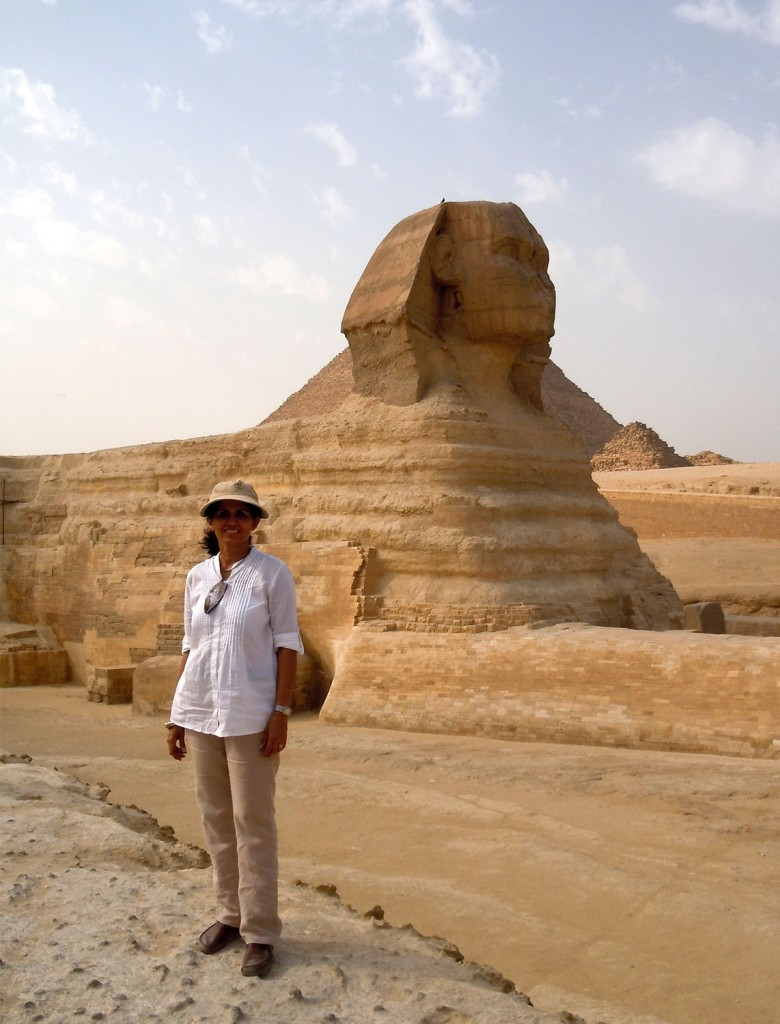 I beside the Great Sphinx of Giza