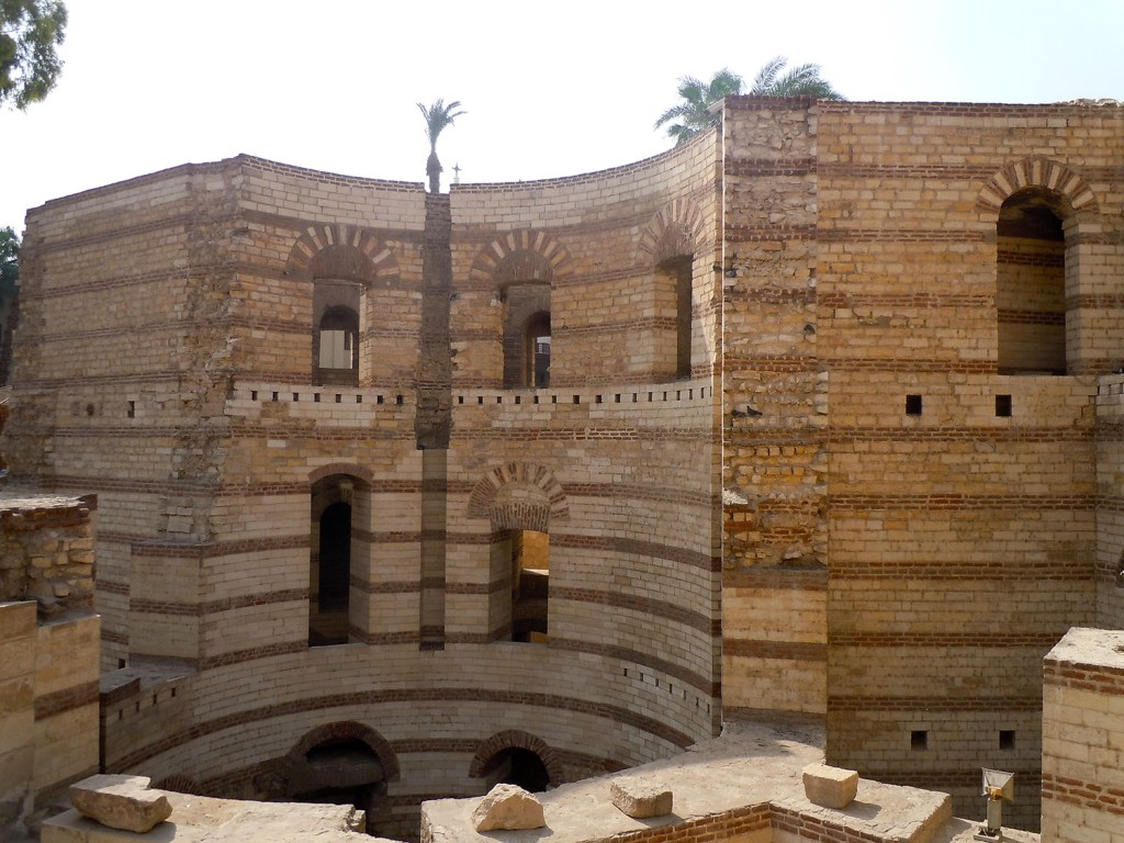 Remains of the fortress of Babylon in Coptic Cairo
