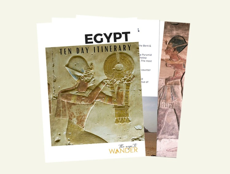 Cover of Egypt itinerary eBook for download.