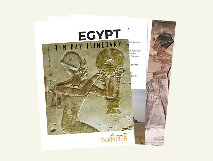 Cover of Egypt Itinerary PDF for download.