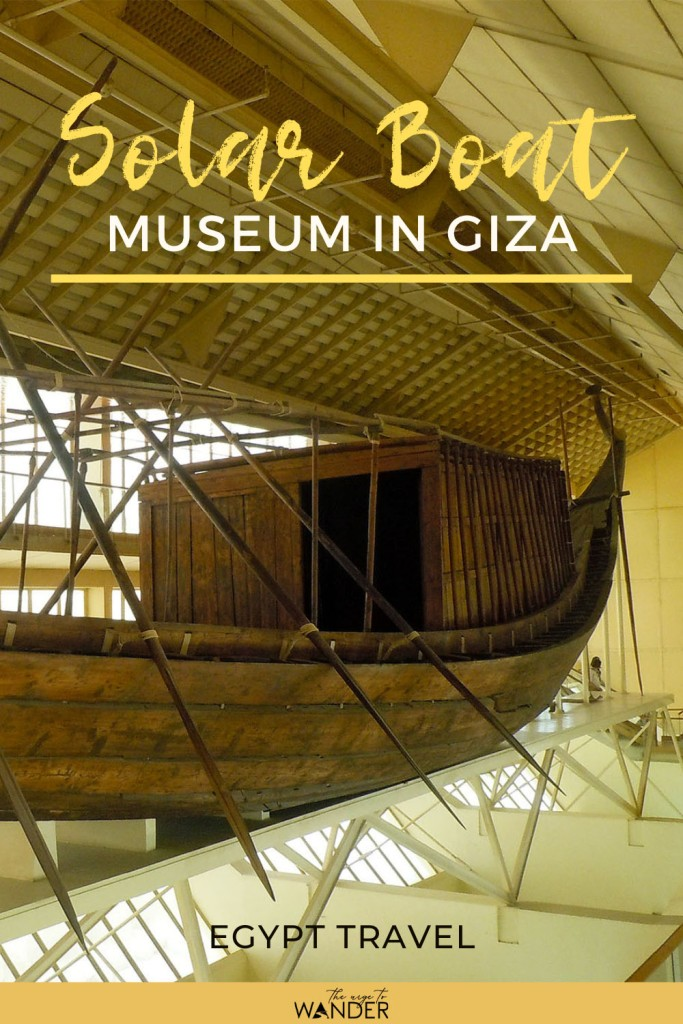 Khufu's funerary ship in the solar boat museum in Giza
