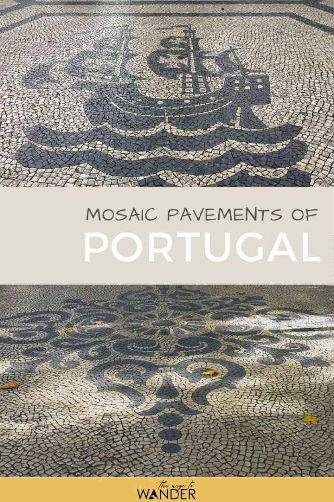 Photo feature on the distinctive street mosaics of Portugal: Calçada Portuguesa. The streets of almost every historic city centre are paved with limestone mosaics with black basalt inserts in beautiful patterns.  #PortugalTravel #ThingsToSee #StreetArt #TraditionalArt #Mosaic