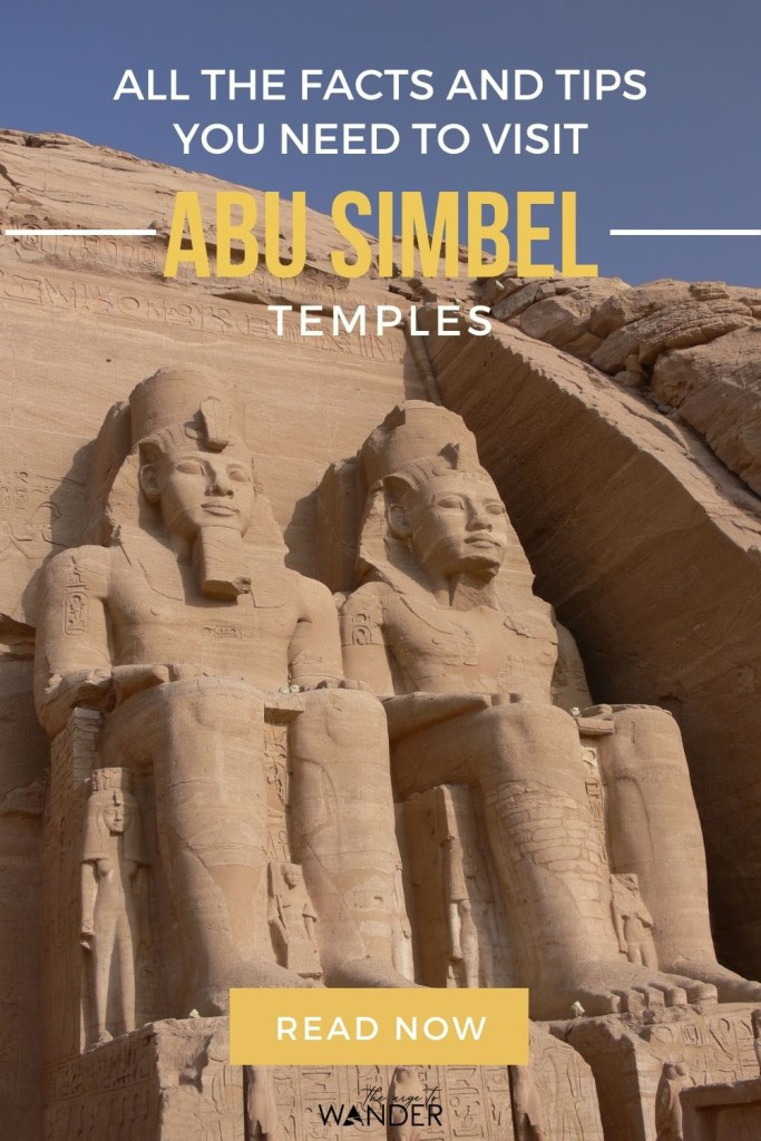 Complete guide to the magnificent Abu Simbel Egypt Temples that were rescued from the waters of the Aswan High Dam and relocated stone by stone. I've included detailed information on how to get there, facts, history and travel tips to help you plan your visit.  #Egypt #PlacesToSee #AncientEgypt ##EgyptTemples