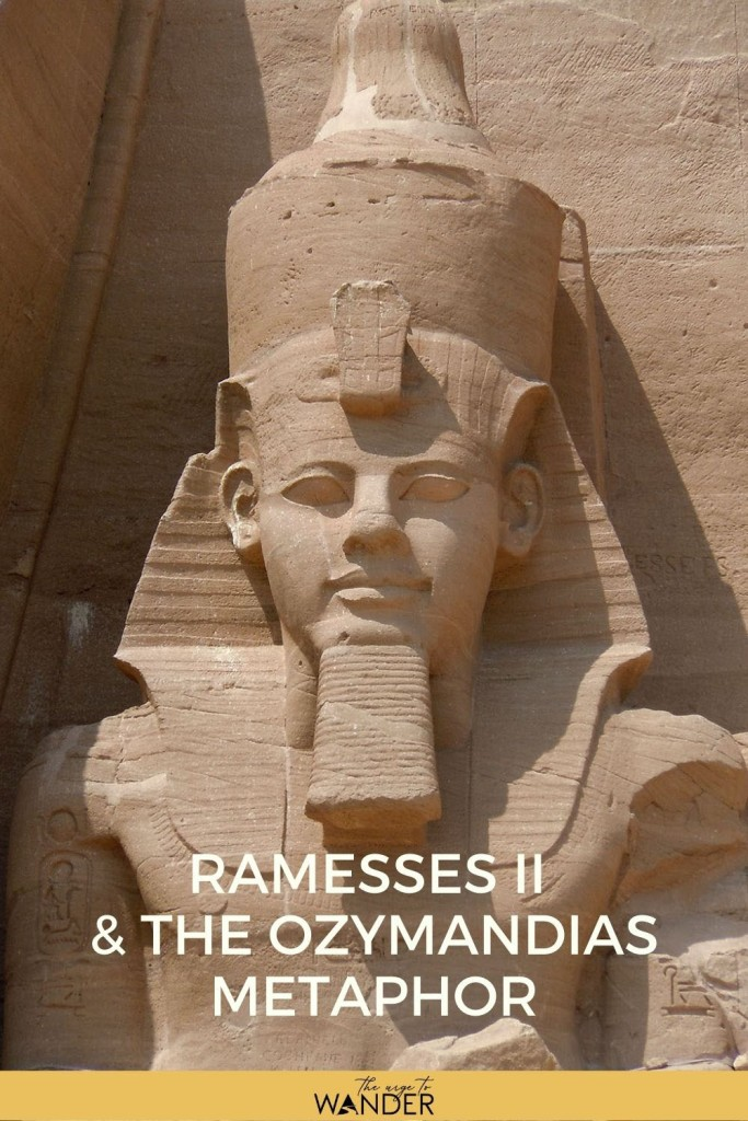 Read about the Pharaoh whose fallen statue is said to have inspired Shelley's Ozymandias.  #Egypt #EgyptCulture #EgyptTravel #RamessesTheGreat