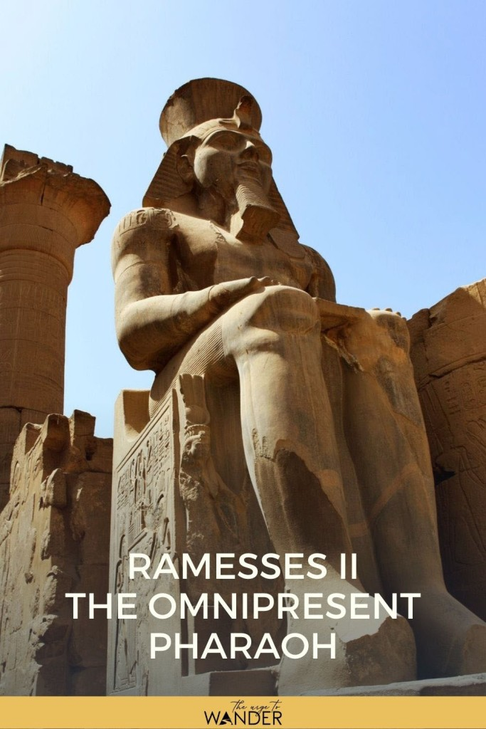 Read about the omnipresent Ramesses the Great whose fallen statue is said to have inspired Shelley's Ozymandias.  #Egypt #EgyptCulture #EgyptTravel #RamessesTheGreat