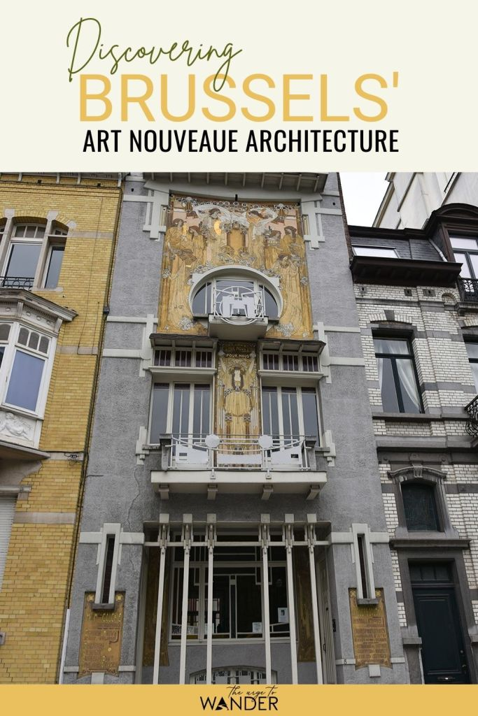 Looking for things to do in Brussels, Belgium? Go on a self guided walk to discover an incredible mix of architectural styles ranging from Gothic to Art Nouveau to concrete contemporary. #Brussels #Travel #ThingsToDo #Architecture #ArtNouveau #History #Culture #EuropeanQuarterBrussels