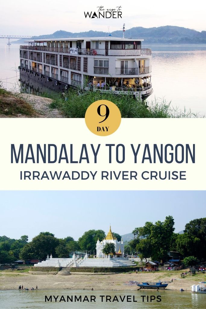 A slow Irrawaddy cruise is a wonderful way to explore Myanmar. Especially from Mandalay to Bagan. Our nine day river cruise itinerary covered most of the attractions in Mandalay, Bagan, Ava, Mingun, Monywa, Salay, Magye, Prome and Pyay. Click on link to read all about our cruise experience. #RiverCruise #Myanmar #Mandalay #Travel