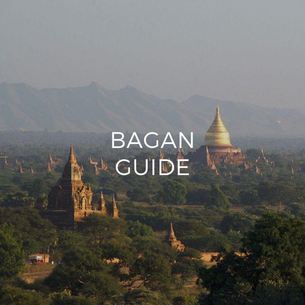 Panoramic view of the pagodas of Bagan - image link to Bagan Guide