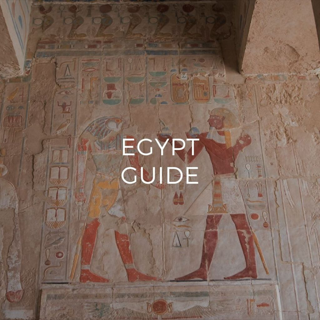 Painted Mural in Hatshepsuts Temple - Image link to Egypt Guide