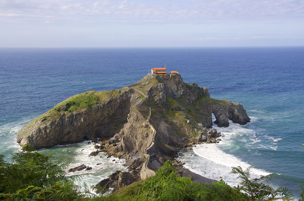 San Juan de Gaztelugatxe, one of many gorgeous stops between San Sebastian and Bilbao.