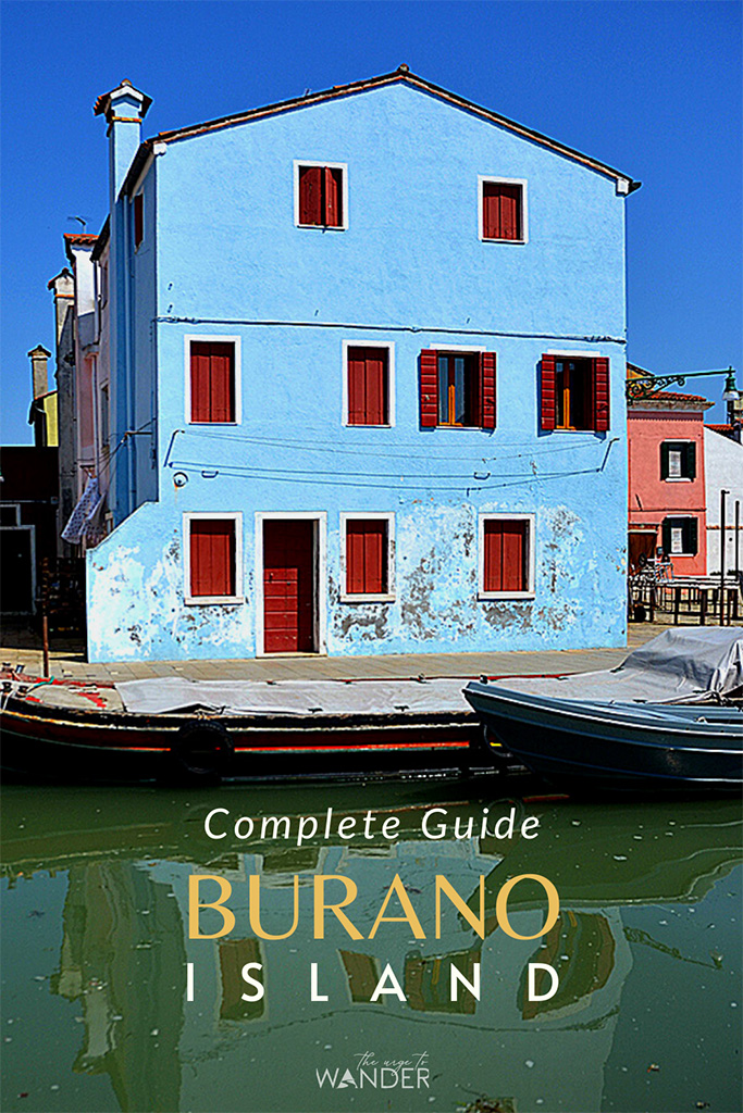The colourful island of Burano, Italy, is famous for its multi coloured houses and traditional lace. In this guide you'll find tips on the best things to see and do in Burano and on how to get there. You can easily combine Torcello and even Murano on a day trip from Venice. #burano #island #travel #venice #italy #photography #travelguide #traveltips