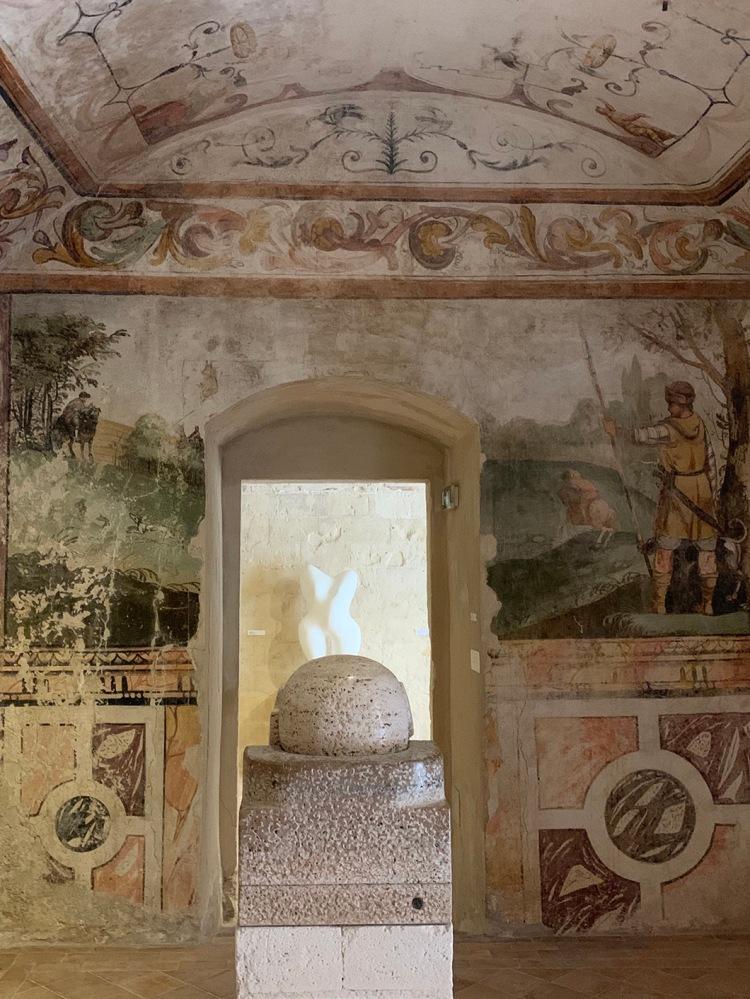 The frescoed interiors of MUSMA in Matera.