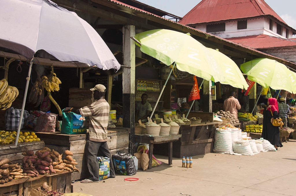 Stall outside Darajani Market - Stone Town Travel Guide