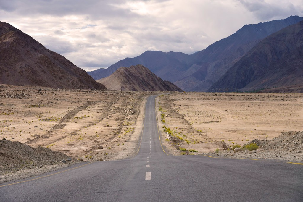 Road between mountains in Ladakh