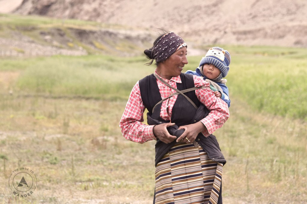 Mother & Child in Changthang, Ladakh.