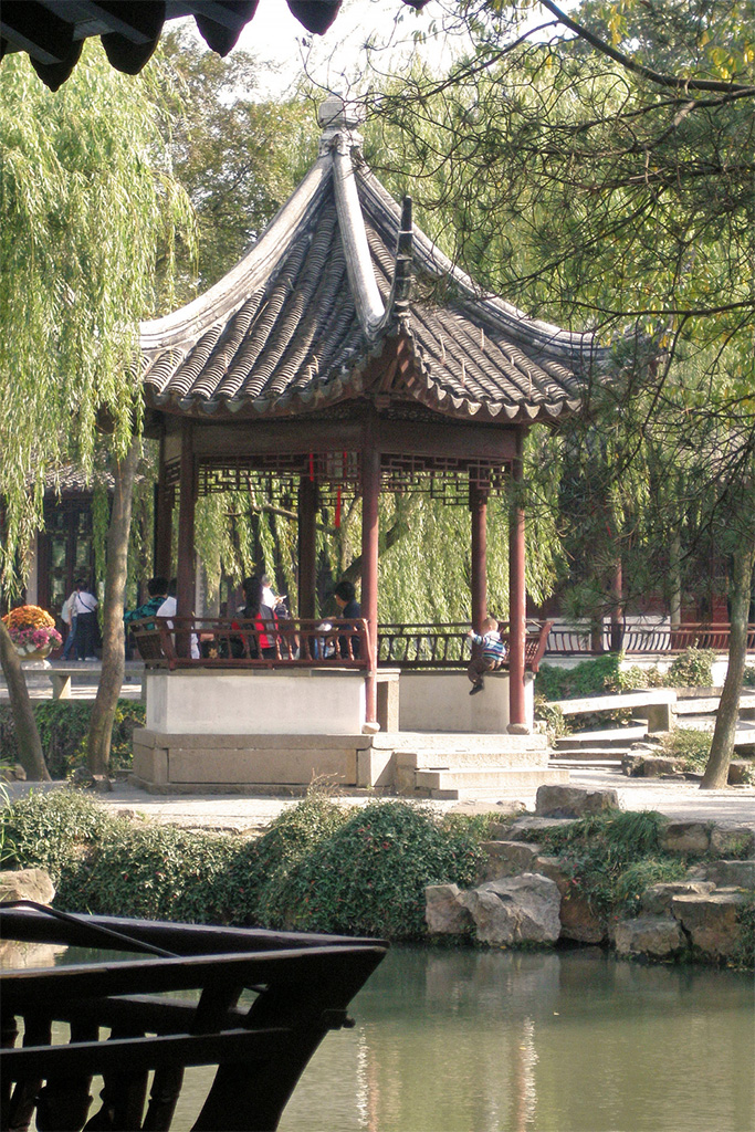 Pavillion, Humble Administrator's Garden, Suzhou, China