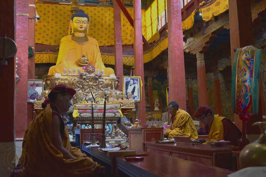 Prayer rituals in Hemis Monastery