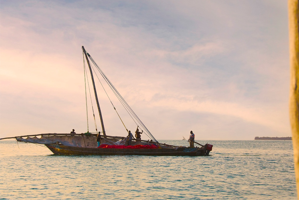 Sail boat off the waterfront - Stone Town Travel Guide